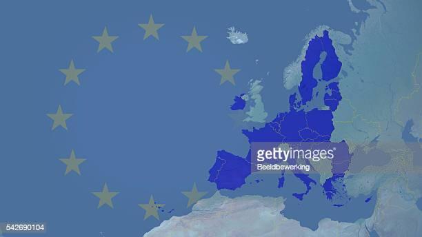 illustrations, cliparts, dessins animés et icônes de syndicat européenne après brexit 2016 avec les frontières 16 : 9 étoiles - brexit
