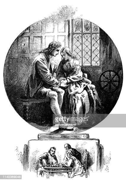 Evangeline and Gabriel in Love - Works of Henry Wadsworth Longfellow