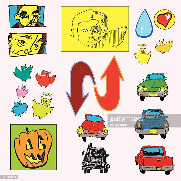 even way more dingbats!!! - animal heart stock illustrations, clip art, cartoons, & icons