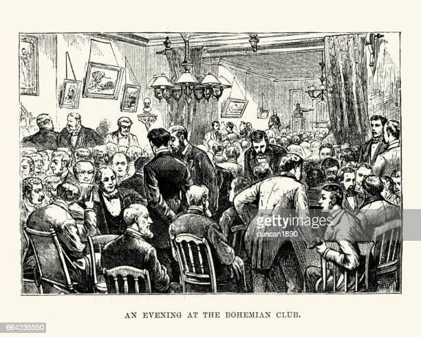 Evening at the Bohemian Club, San Francisco 19th Century