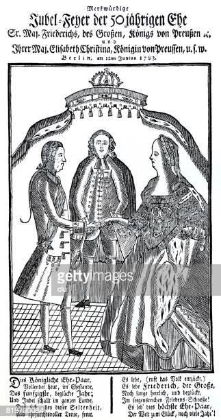 Carta de eventos para la boda oro de Federico el grande de Prusia