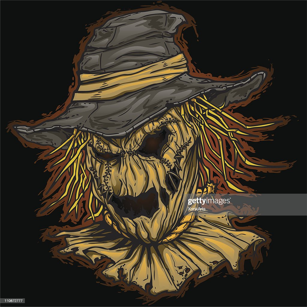 Evil Scarecrow on Dark