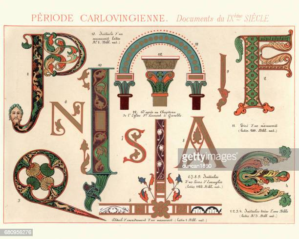 Examples of Carolingian Decorative Design 9th Century