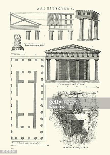 examples of classical architecture - architectural feature stock illustrations, clip art, cartoons, & icons