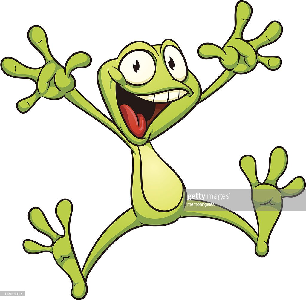 Excited frog