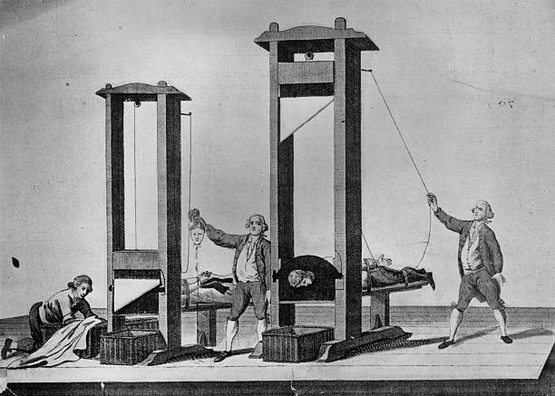 Execution by guillotine in Paris during the French...