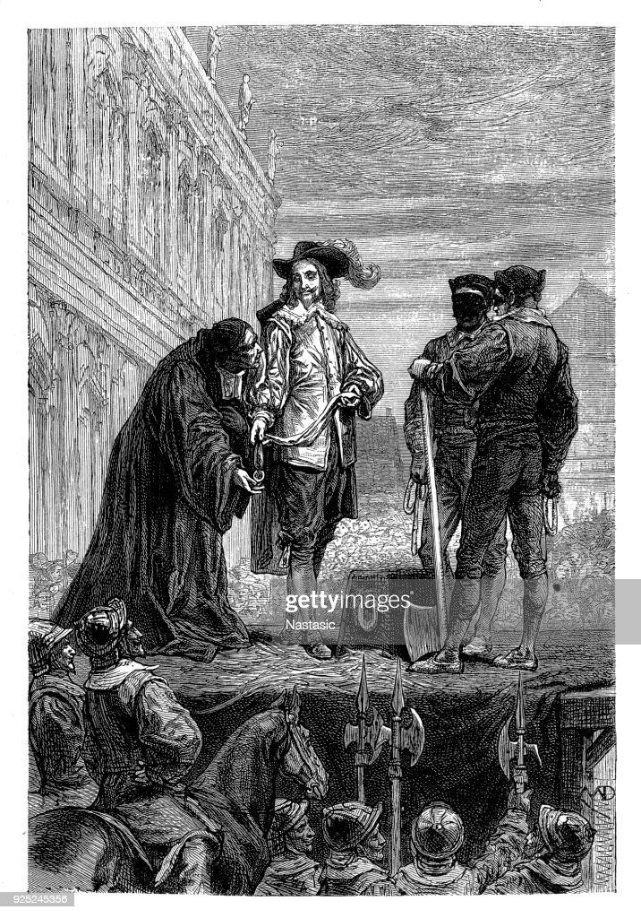 Execution of King Charles I : stock illustration