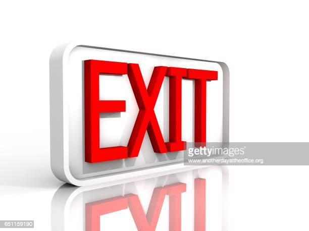 exit sign isolated on white