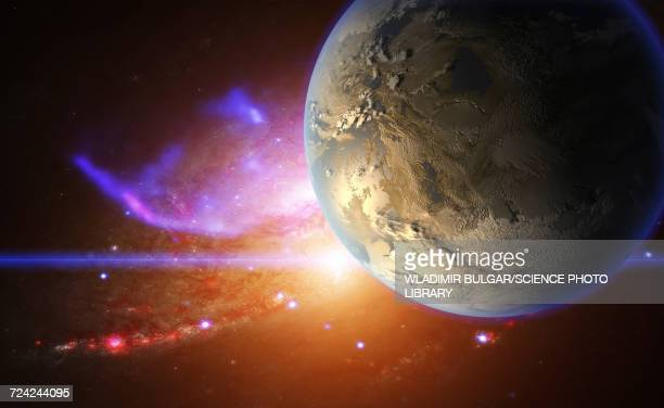 Exoplanet and galactic nebula