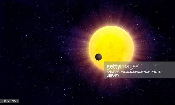 exoplanet passing and star - extrasolar planet stock illustrations