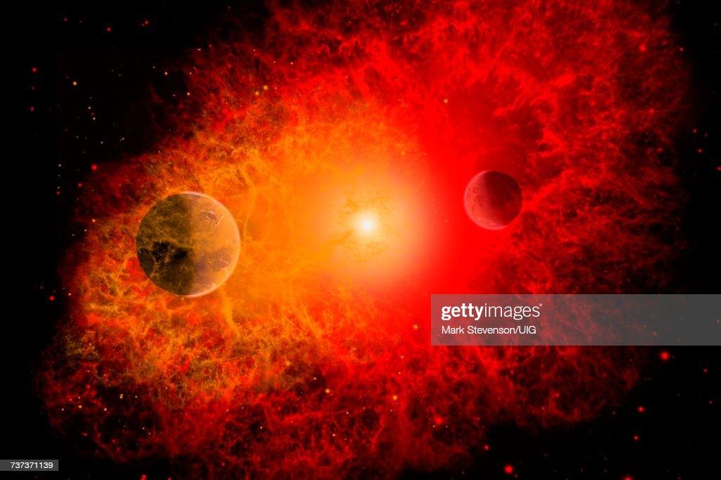 Exploding Star Called Supernova. : stock illustration