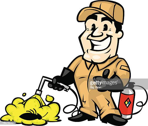 exterminator guy - pests stock illustrations