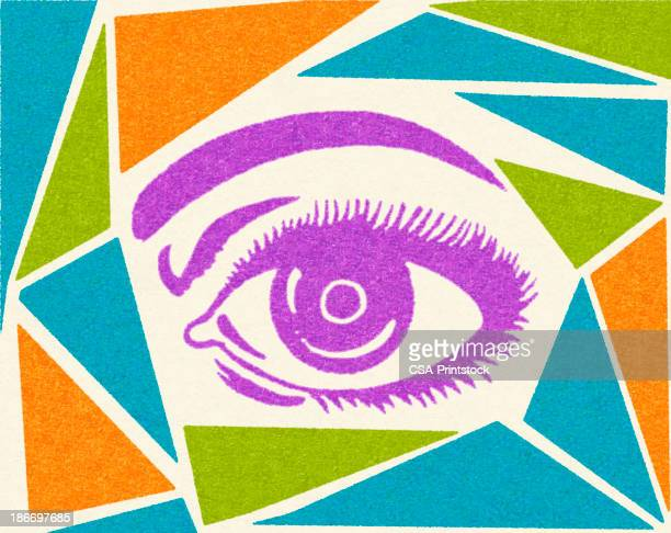 Eye and Abstract Background