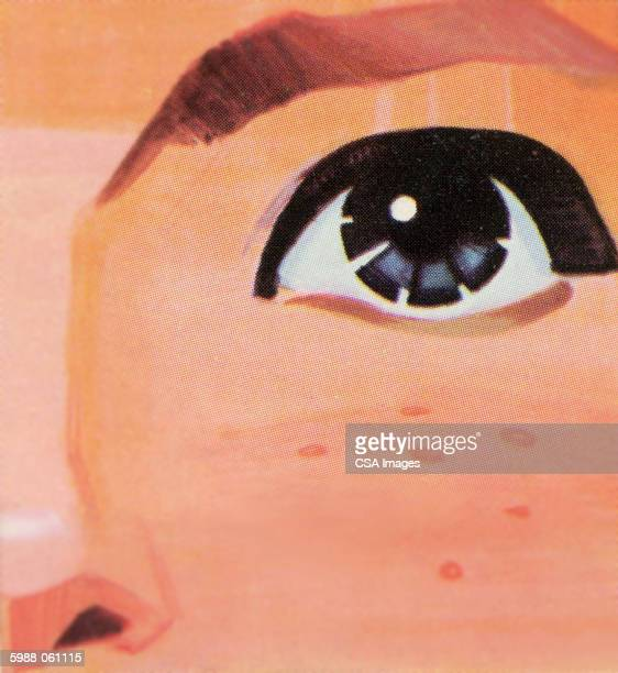 eye and freckles - staring stock illustrations