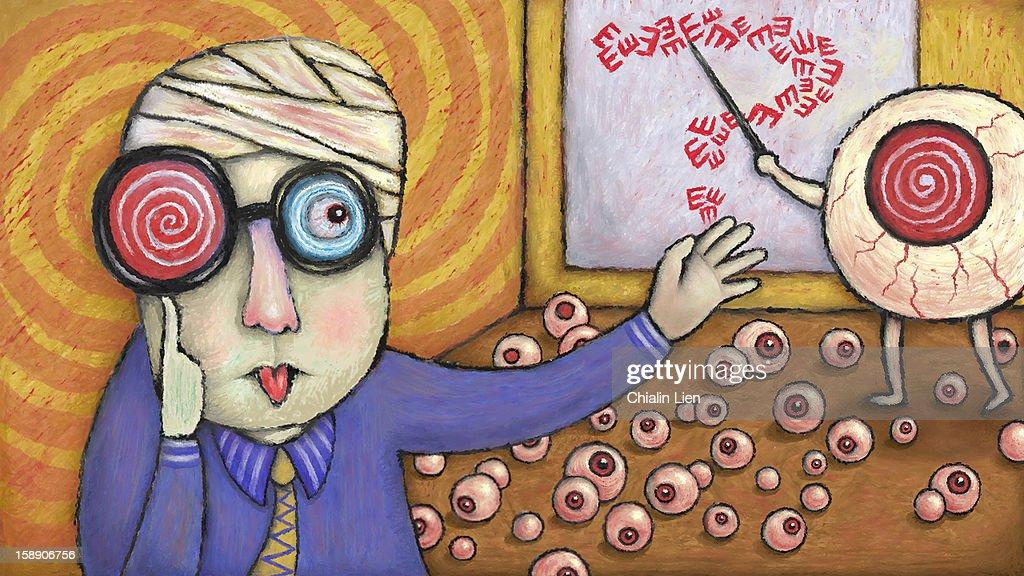 Eye Chart : Stock Illustration