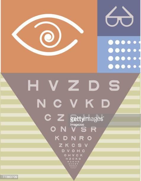 eye exam - glaucoma stock illustrations, clip art, cartoons, & icons