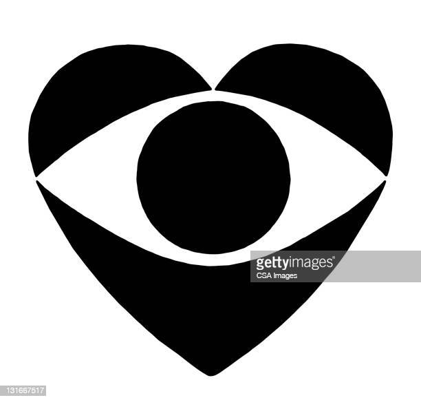 eye heart - design element stock illustrations