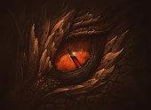 Eye of fantasy dragon