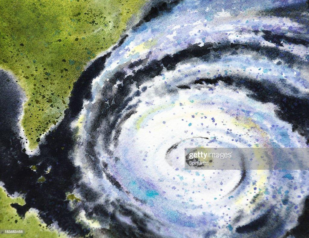 Eye Of The Hurricane : stock illustration