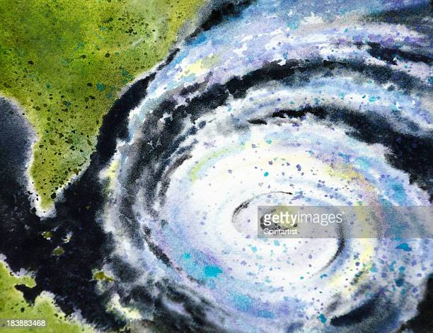 eye of the hurricane - hurricane stock illustrations, clip art, cartoons, & icons