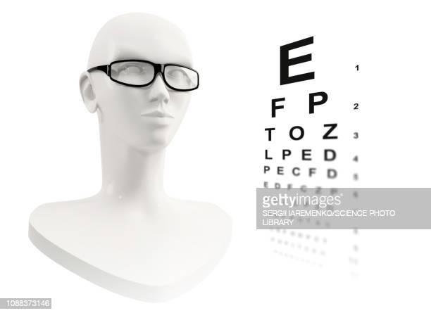 eye test, conceptual illustration - 検眼医点のイラスト素材/クリップアート素材/マンガ素材/アイコン素材