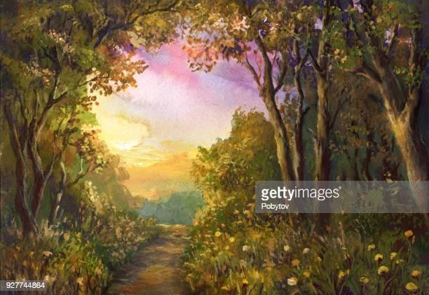 fabulous watercolor landscape