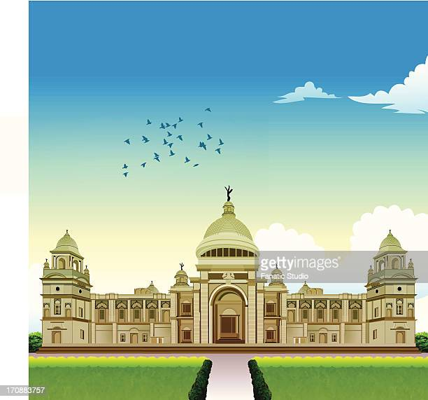 Facade of a memorial building, Victoria Memorial, Kolkata, West Bengal, India