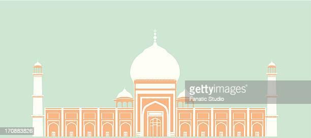 Facade of a mosque, Jama Masjid, Delhi, India