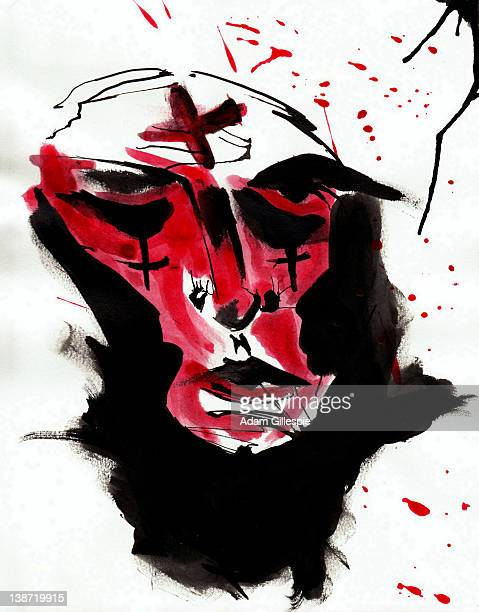 Face with crosses on it