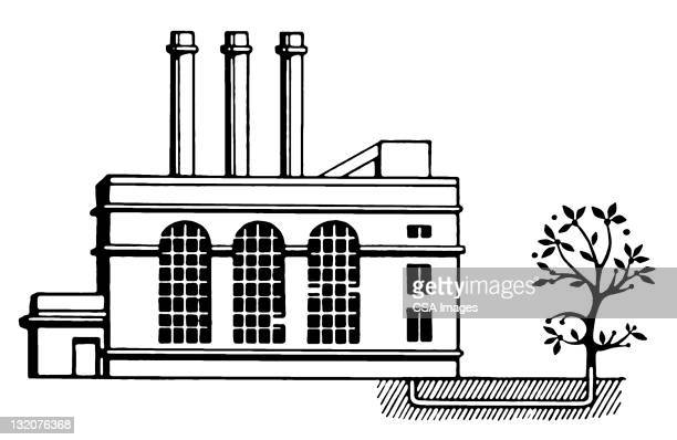 factory and tree - {{relatedsearchurl('racing')}} stock illustrations, clip art, cartoons, & icons