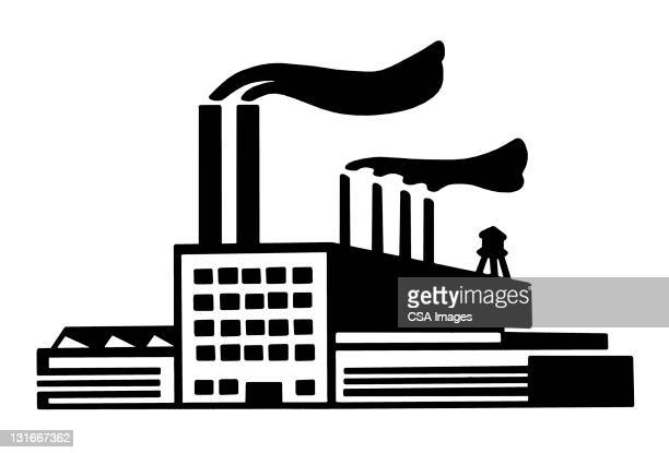 factory building - facade stock illustrations