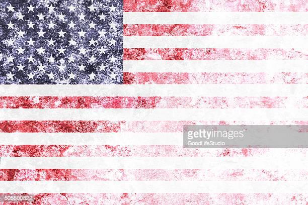 Faded US flag