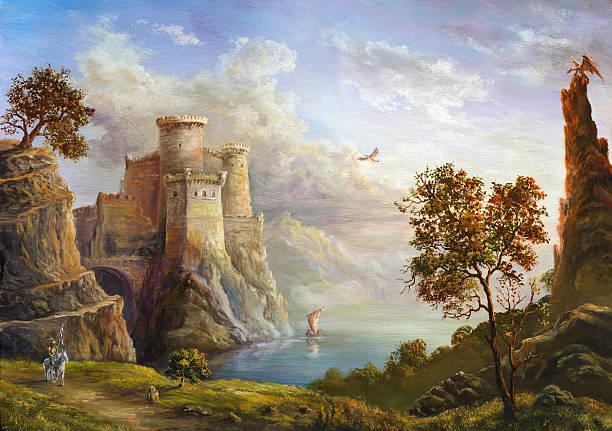 fairy kingdom - fantasy stock illustrations