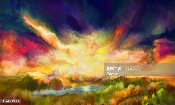 妖精の土地、油絵 - 幻想点のイラスト素材/クリップアート素材/マンガ素材/アイコン素材