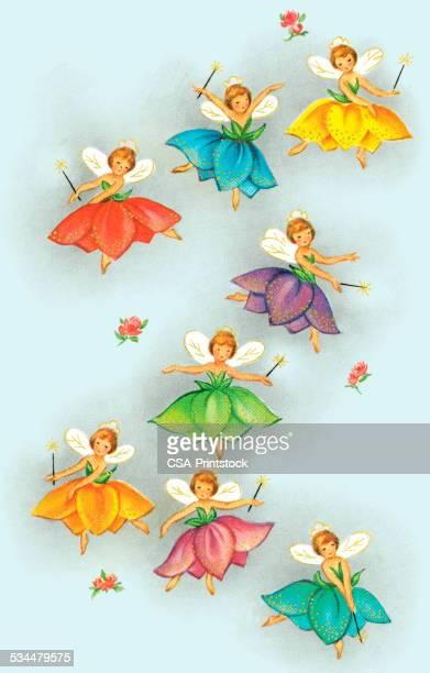 fairy pattern - fairy stock illustrations