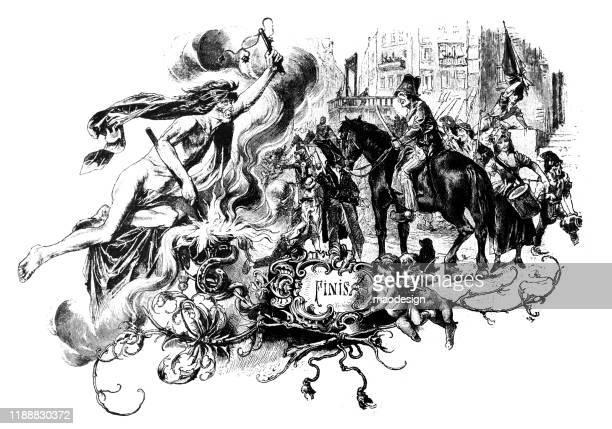 ilustrações, clipart, desenhos animados e ícones de história do conto de fadas sobre um anjo mau - 1887