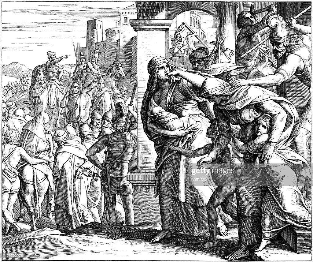Fall of Jerusalem : stock illustration