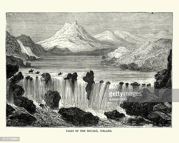 Falls of Bruara, Iceland, 19th Century