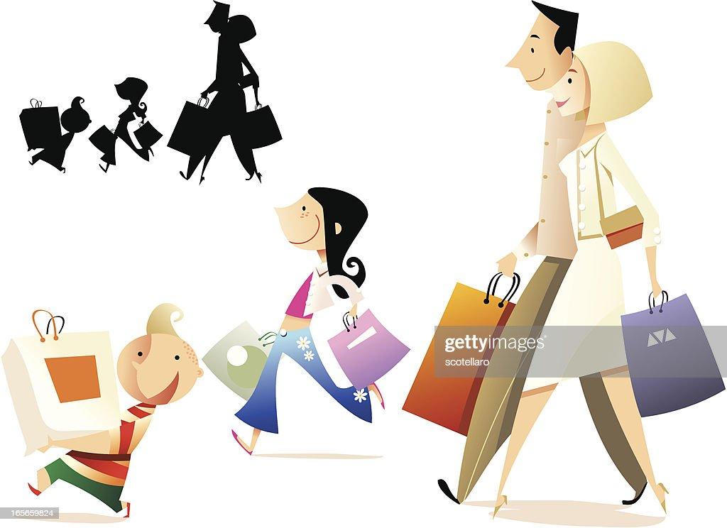 familia de compras