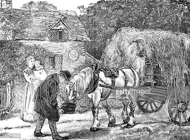 Family and Horse - Victorian Illustration