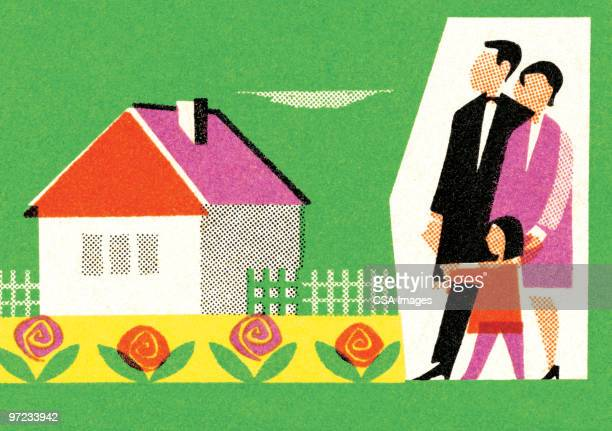 family at house - 夫婦点のイラスト素材/クリップアート素材/マンガ素材/アイコン素材