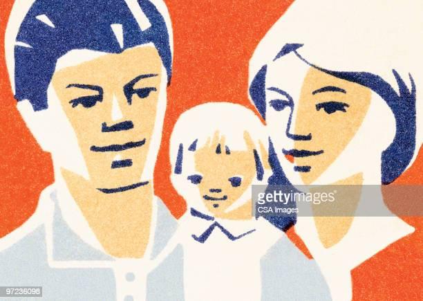 family - baby stock illustrations