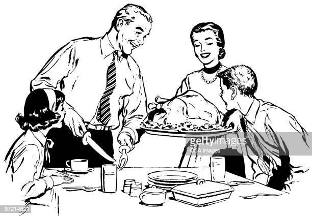 family meal - ロースト点のイラスト素材/クリップアート素材/マンガ素材/アイコン素材