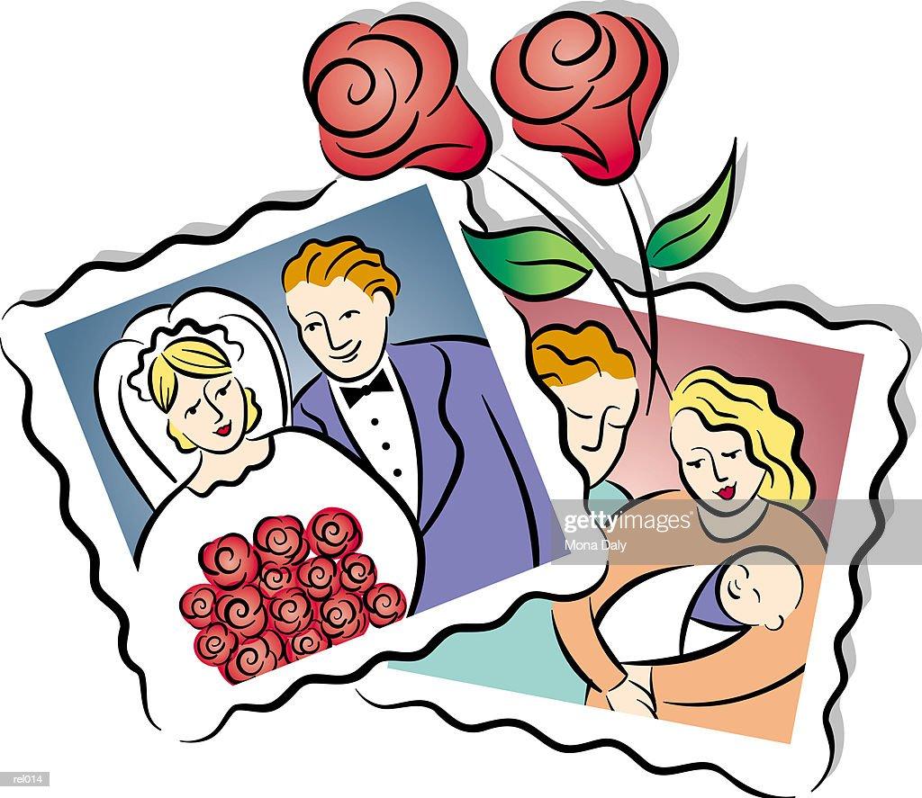 Family Photographs : Ilustração de stock