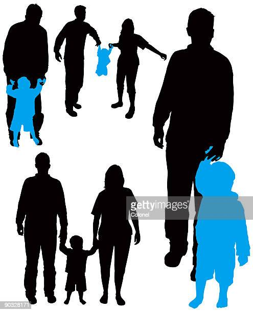 Family Silhouettes 7 (vector & jpg)