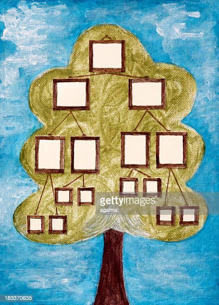 family tree - family tree stock illustrations, clip art, cartoons, & icons