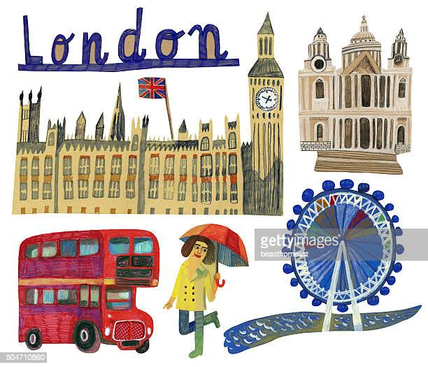 Famous landmarks of London in UK