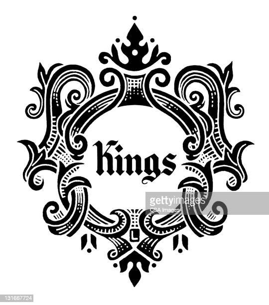 fancy kings sign - king royal person stock illustrations, clip art, cartoons, & icons