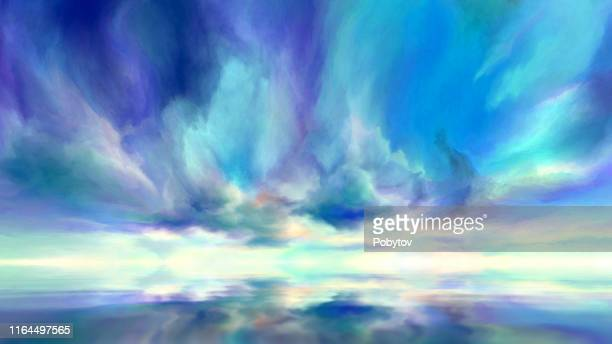 fantastic seascape - heaven stock illustrations