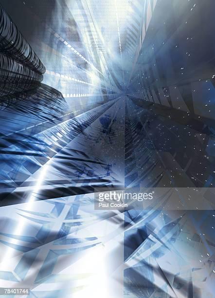 fantastical space landscape - 謎点のイラスト素材/クリップアート素材/マンガ素材/アイコン素材